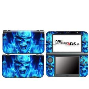 Blue Skull 94 vinyl Decal Sticker Case Cover For Nintendo NEW 3DS XL LL Skins