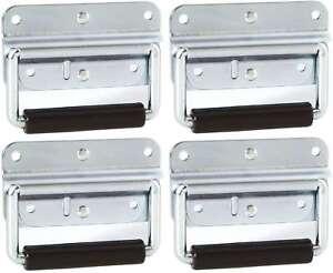 4 St. Klappgriff gefedert 102 x 81 mm silber Kistengriffe Boxengriff Tragegriffe