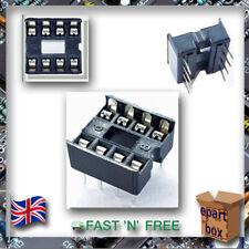 DIP Pin Integrated Circuit IC Sockets Adaptor Solder Type 8,14,16,18,20,24,28