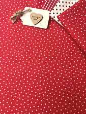 100% cotton fabric patchwork red tiny stars sewing quilting craft vintage xmas