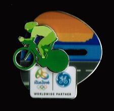 BICYCLE MOVING RIO DE JANEIRO 2016 OLYMPIC CYCLIST GENERAL ELECTRIC SPONSOR PIN