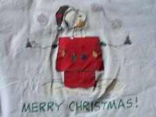Vtg 80s White Nutmeg Brand Snoopy Merry Christmas Doghouse T-Shirt Adult Xl Nice