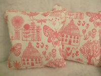 "BOQUERIA BY DESIGNERS GUILD 1 PAIR OF 18""CUSHION COVERS DOUBLE SIDED/PIPED"