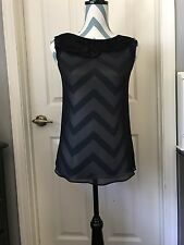 PRE-OWNED• Theory 100% Silk Women's Career Blouse Size TP