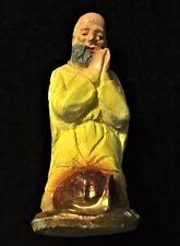 "Vintage Chalkware Christmas Nativity King Kneeling Wiseman Figure 3.5"" Tall"