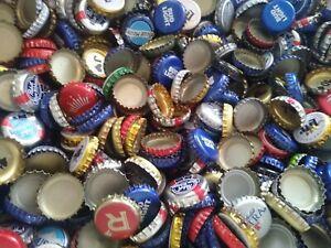 100 Beer Bottle Caps Tops Assorted Sanitized No Dents Arts Crafts Hobbies