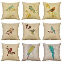 "18"" Fashion Birds Pillows Pillow Case Waist Throw Cushion Cover Home Decor"