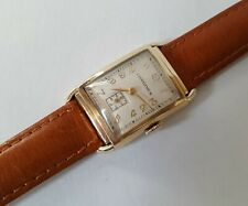 Unisex Vintage Solid 14k Gold Manual Winding Longines Wrist Watch