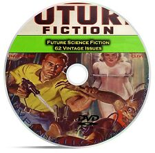 Future Science Fiction, SciFi Pulp Mags, 62 Classic Pulp Magazines on DVD CD C38