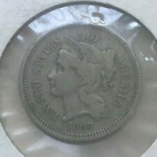 1869 Nickel 3 Cent Piece - Three Cent Piece