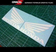 Pair of Honda Wing Fuel Tank Motorcycle Racing MotoGP Vinyl Decal Sticker