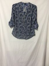 NWT Express Rope Heart Zip Front Top Blouse - XS
