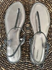 1e36d46f7c9c6f xhilaration Black Silver Glitter Sandals Size 11 Wedding Casual Party