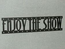 Enjoy The Show Film Strip Wood Wall Words Hanging Sign Art Decor Movie Reel