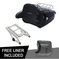 King Pack Trunk Pad Mount Rack Kit Fit For Harley Tour Pak Street Glide 14-20 19