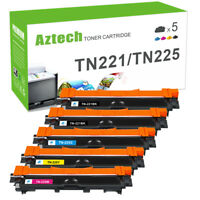 5 Pk TN221 BK TN225 Color Toner For Brother MFC-9130CW, MFC-9330CDW, MFC-9340CDW