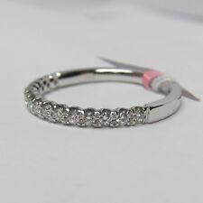 0.23 ct U Prong Half Eternity Diamond Wedding Band In 18K White Gold