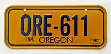 1979 Wheaties Post Cereal Oregon Miniature Bike State Metal License Plate sign