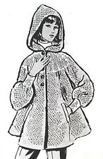 532 Vintage Design HOODED JACKET Pattern to KNIT (reproduction) SZ 8-18