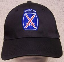 Embroidered Baseball Cap Military Army 10th Mountain Div NEW 1 hat size fits all