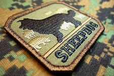 SHEEPDOG US ARMY TACTICAL K9 MORALE MILITARY BADGE INFIDEL FOREST HOOK PATCH