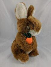 "Chosun Brown Rabbit Bunny Plush w/ Carrot 11"" Korea"