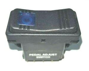 W0004867 Workhorse  PEDAL ADJUST SWITCH BLUE LIGHTED   ROCKER  CARLING