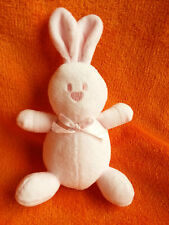 "Mallory Grant Emile Pink Rabbit Soft Toy Baby Comforter 7"" Squeeker tummy"