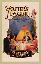 Nostalgia Postcard Foster's Lager Advert 1920s Fashion Reproduction Card NS29