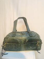 Chloe Deep Green Leather Four Pocket  Purse/Handbag Gold Hardware Silver Zippers