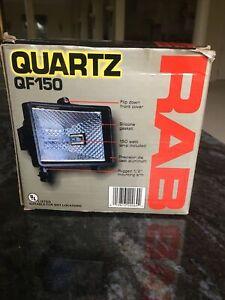 RAB Quartz Floodlight QF150 w/ Box and 150W Bulb Open Box