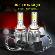 2x 120w H8 H9 H11 Fog LED Bulbs Set Kit Car Light White 6000K Headlights 20000lm