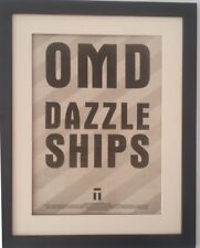 OMD*Dazzle Ships*Tour*1983*ORIGINAL*POSTER*AD*FRAMED*FAST WORLD SHIP