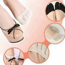 Lady Women Invisible Yoga Gym Non Slip Toe Socks Half Grip Heel Five Finger Sock