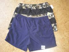 (2XL) NWT 2 Islander Swim Trunks Pool Beach Mens BLUE / Black Tropical Swim Suit
