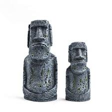 New listing Niteangel Ancient Easter Island Stone Head Aquarium Ornament, Fish Tank Decor.