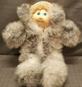 Vintage Cabbage Patch Kids Doll 1978 / 1982 Coleco With Faux Fur