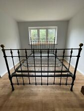More details for divine antique king size victorian iron brass bed sprung base country house chic