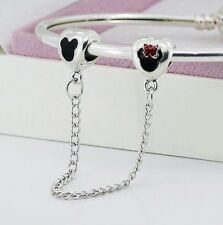 Disney Mickey Mouse 😍😍 Charm Bracelet Safety Chain For Charm Bracelets . B N