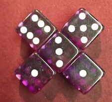 5 Purple 19mm Premium Dice