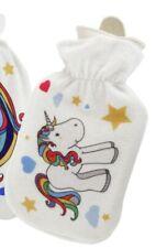 Wärmflasche Einhorn 2 l  Wärmeflasche Wärmekissen Gummi mit Stoffbezug Unicorn