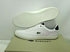 LACOSTE COURT-MASTER 118 CAM UK 10 WHT/NVY LEATHER TRAINERS EUR 44.5  USA 11