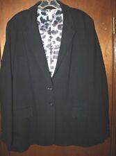 Chico's Womens Blazer/ Jacket Size 3 Black/ Leopard lining