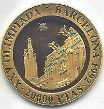 España 1991 Olimpiada Barcelona  20.000 Pesetas oro 3ª Estadio Montjuich PROOF