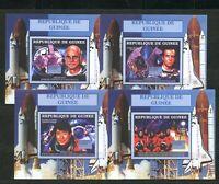 Astronauts Space Walk Columbia 4 mnh Imperf Souvenir Sheets 2006 Guinea