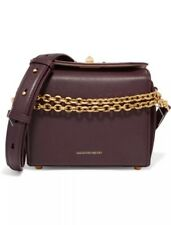 Alexander Mcqueen burgundy small Box Bag. Brand new with tags