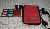 Nintendo Game Boy Advance SP AGS-001 Handheld System Flame Red Console Lot