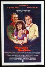 WHEN TIME RAN OUT -1980 - original 27x41 movie poster - INTL STYLE - PAUL NEWMAN