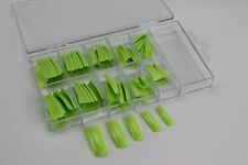 100 Stück Fingernägel künstliche Nägel French Nagel Nail Tips Box Graß Grün 005