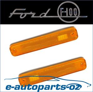 2x Ford F100 F250 F350 Indicator Light Lens Front Guard Quarter Panel 1974-80